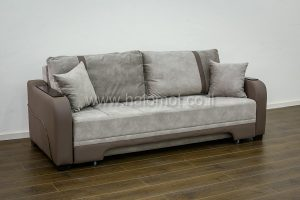 ספה נפתחת למיטה זוגית עם ארגז מצעים - דגם שוקו